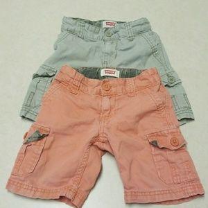 Levi's toddler shorts bundle 2T